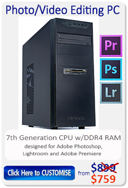 7th Generation Kabylake desktop computer for Photo Video Editing